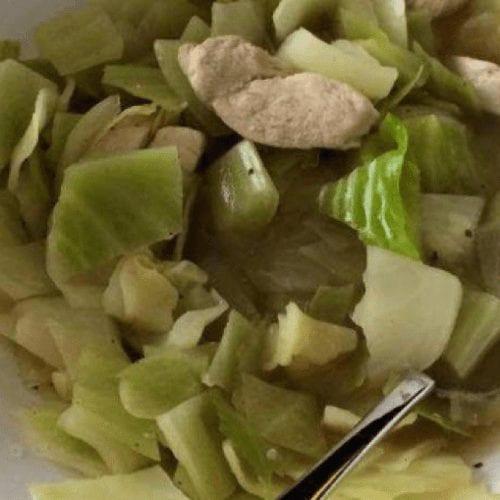 Chicken Cabbage Scramble