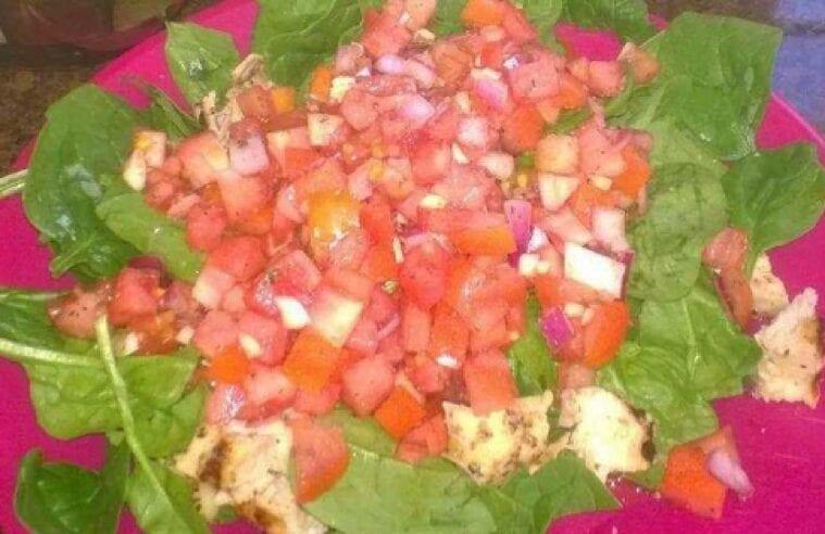Chicken Tomato Bruschetta