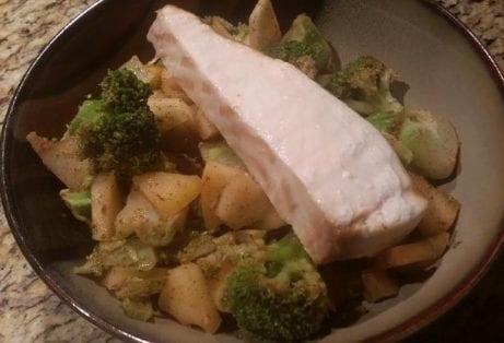 5 Spice Apple Broccoli Mahi Mahi