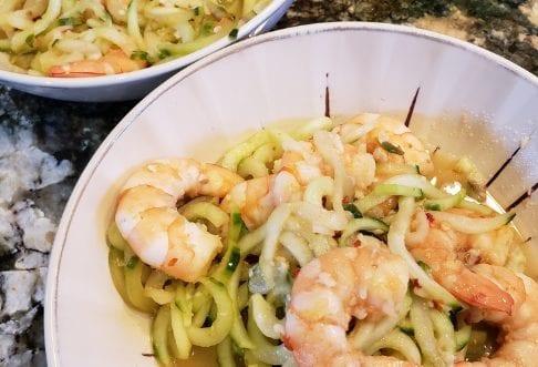 Lemon Garlic Shrimp Over Cuke-noodles