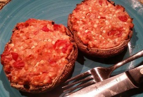 Mushroom Crust Mini Pizzas