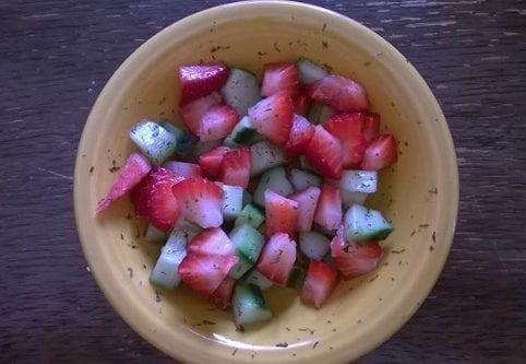 Savory Strawberry Cucumber Salad
