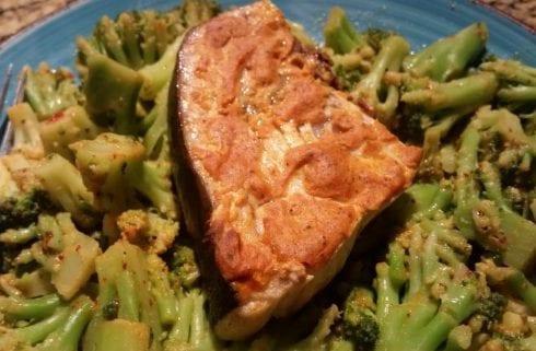 Spicy Dijon Swordfish