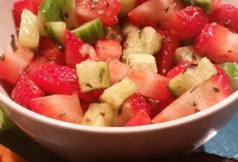 Sweet Strawberry Cucumber Salad