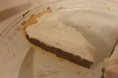 Dark Chocolate Silk Pie