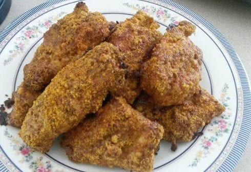 Spicy Almond Chicken Fingers