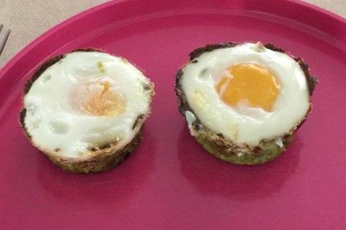 Spinach-Cauli Cup Eggs