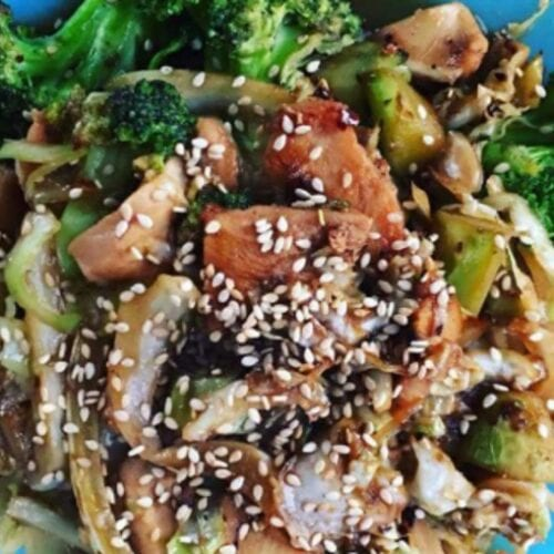 Chicken & Broccoli with Cabbage