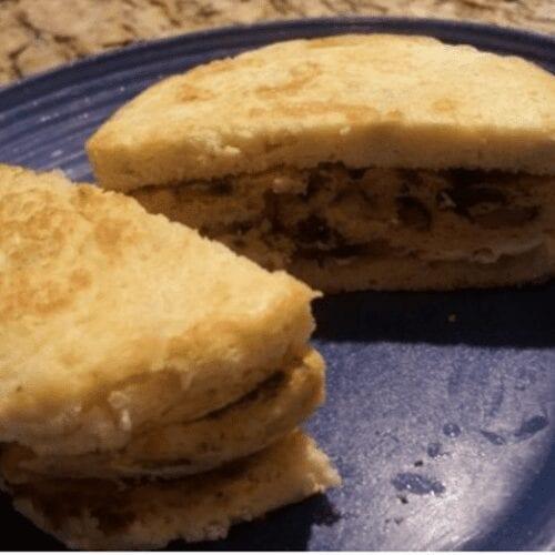 Mushroom Chive Breakfast Sandwich