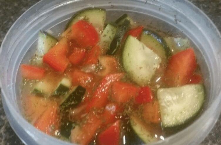 Red Pepper Cucumber Salad